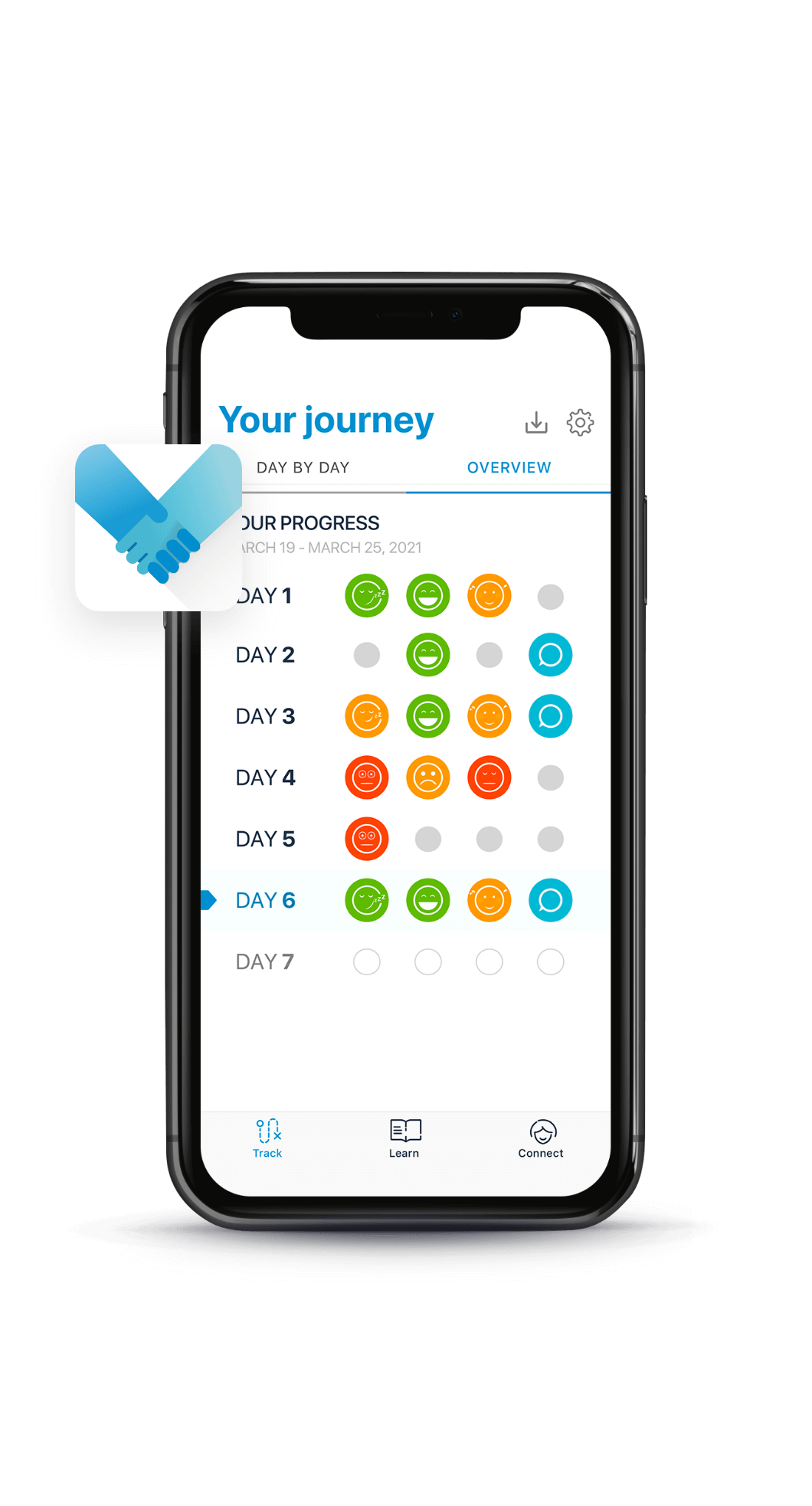 The Your Journey screen in the mySCS app.