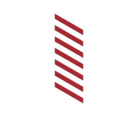 Stacked diagonal red lines that represent where pain is in the diagram.
